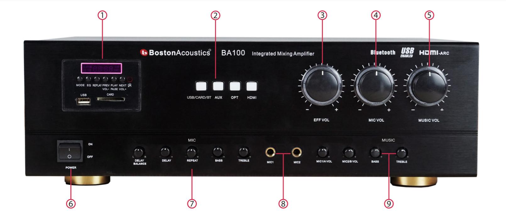 Ampli Karaoke Boston Acoustics BA100 | HAYAUDIO.COM