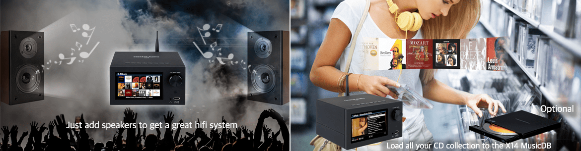 Ampli tích hợp Music Server Cocktail Audio X14 | Anh Duy Audio