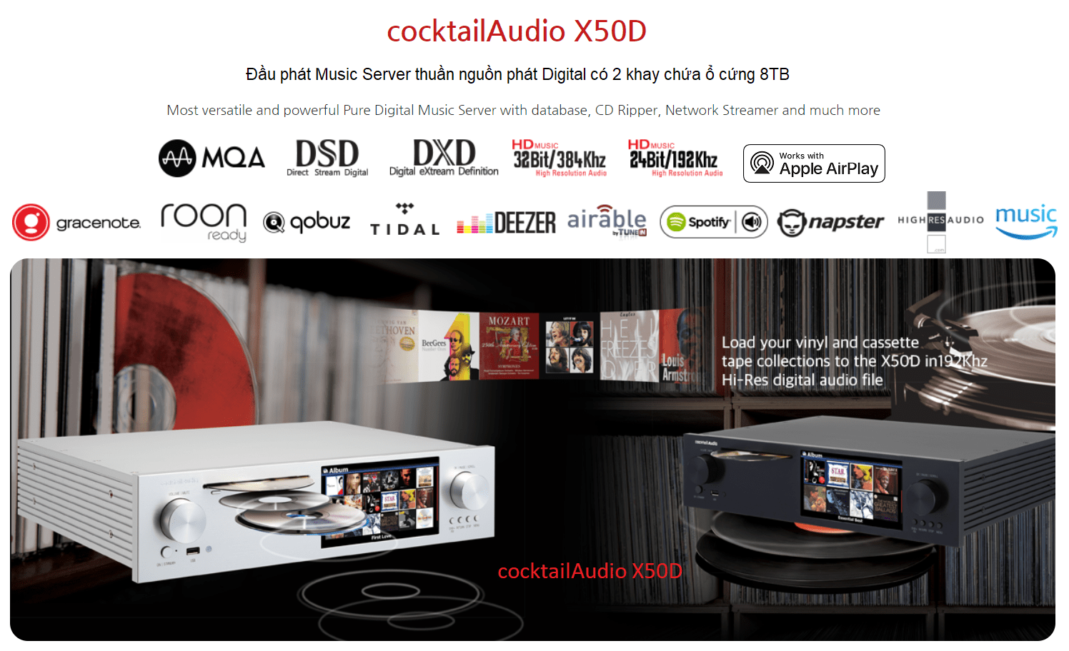 Cocktail Audio X50D | Anh Duy Audio