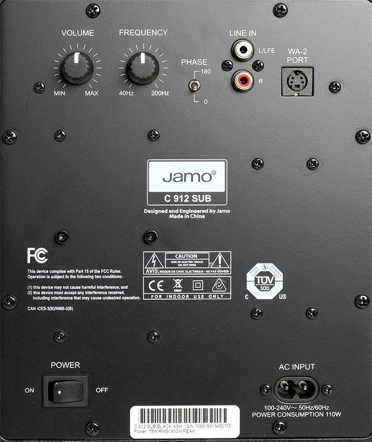 Loa Subwoofer Jamo C 912 SUB | Anh Duy Audio