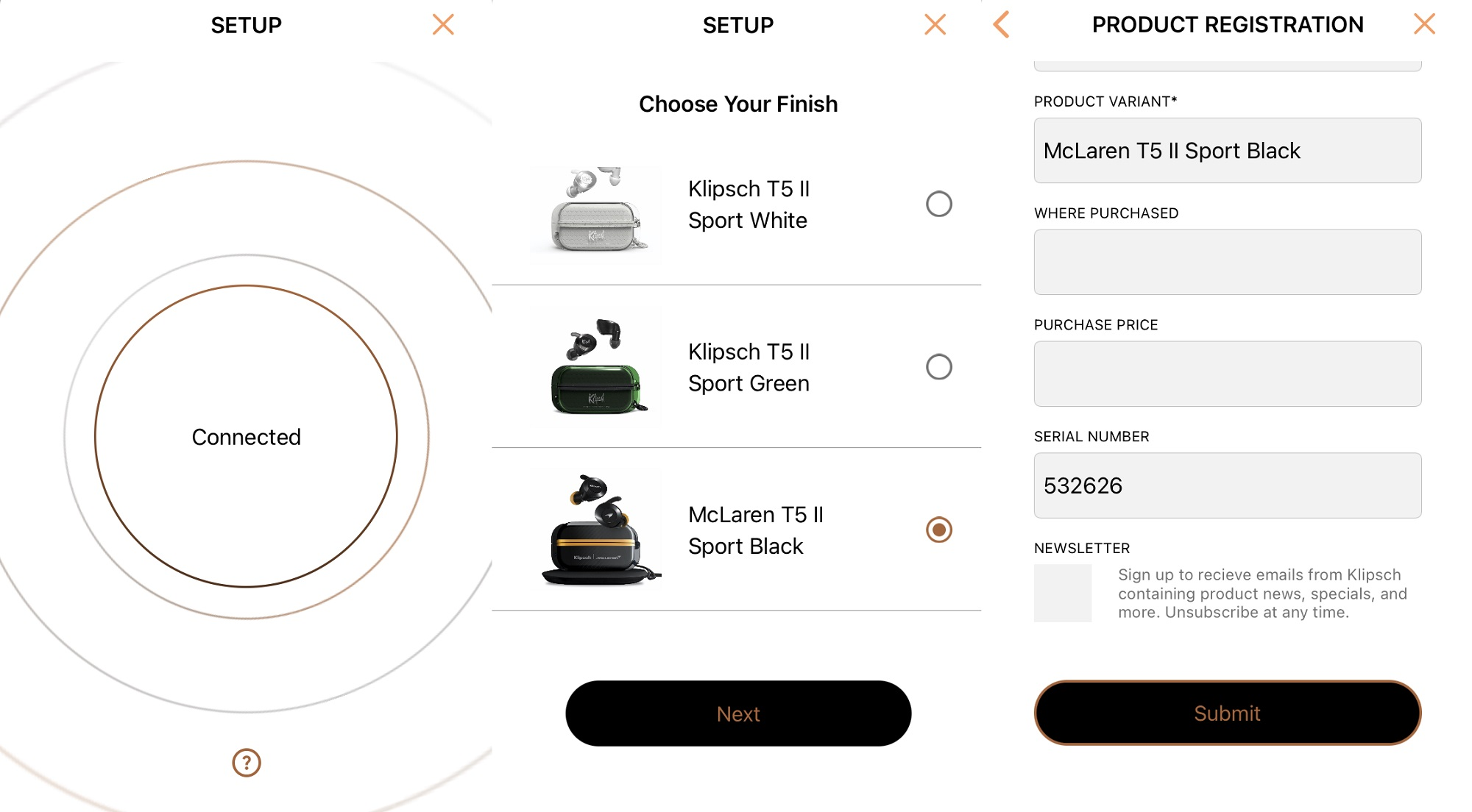 Klipsch T5 II True Wireless Sport McLaren Edition | Anh Duy Audio