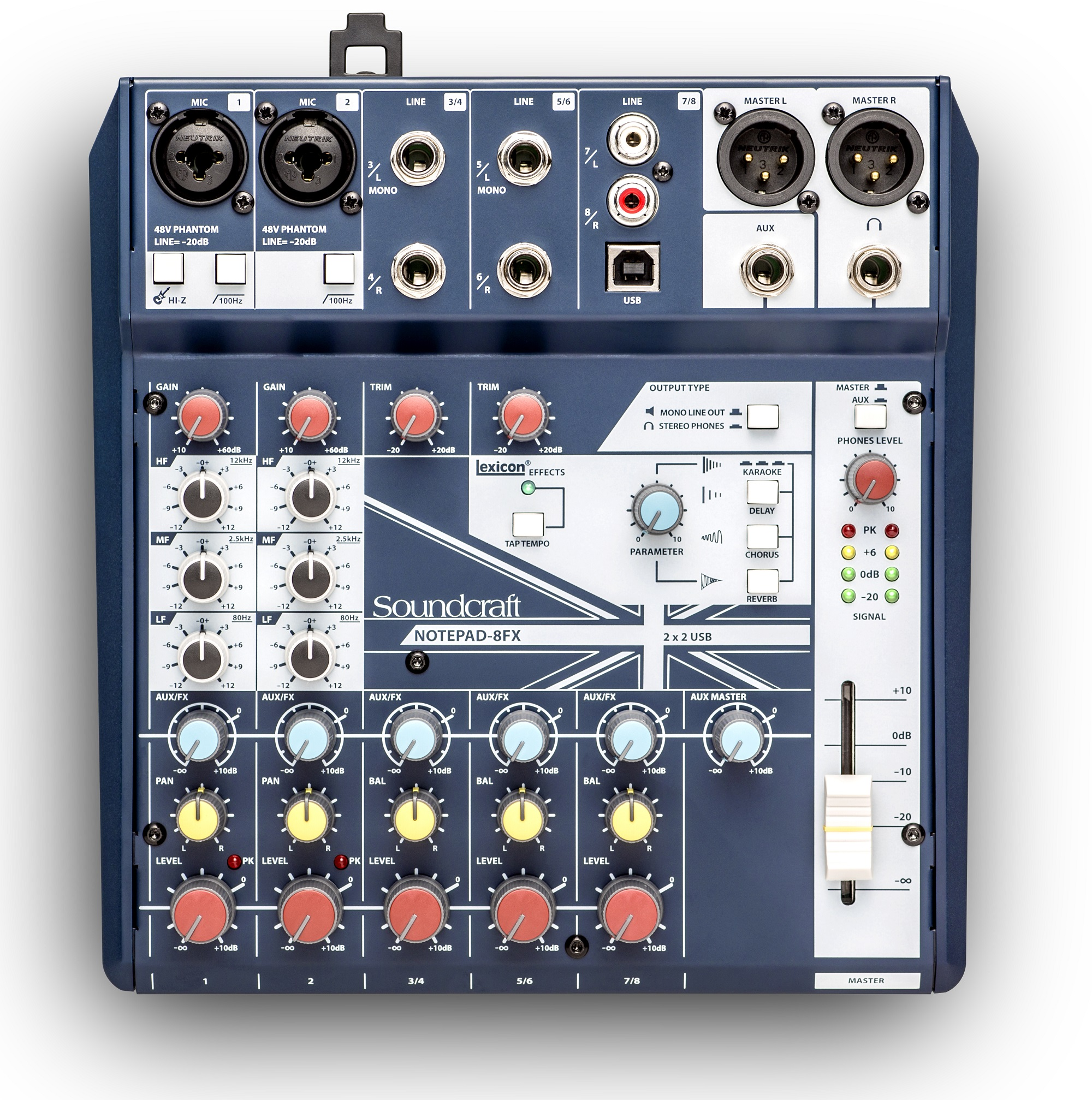 Mixer Soundcraft Notepad-8FX | Anh Duy Audio